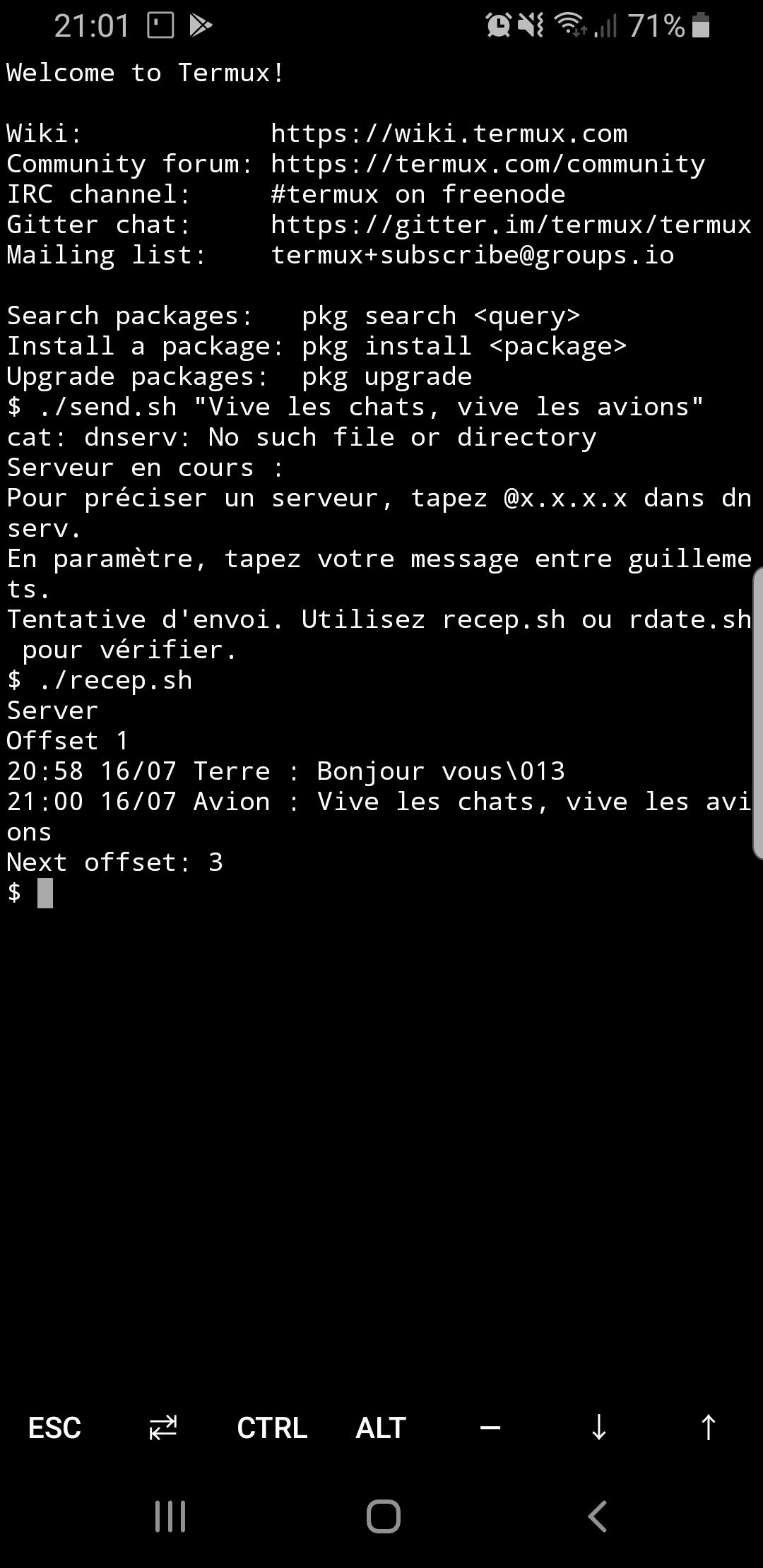 Utilisation de Chatavion sur Android